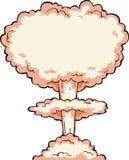 Explosion nucléaire illustration libre de droits