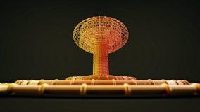 Explosion nucléaire abstraite de bombe atomique Image stock