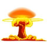 Explosion nucléaire avec la poussière illustration stock