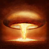 Explosion of nuclear bomb Royalty Free Stock Photo