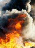 Explosion och eldkula Fotografering för Bildbyråer