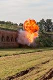 Explosion och eldkula Arkivbilder