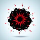 Explosion och rök stock illustrationer
