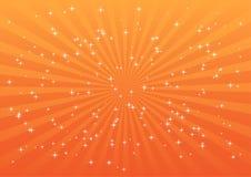 Explosion orange Images libres de droits