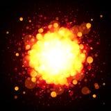 Explosion orange de vecteur d'espace du feu Photo libre de droits