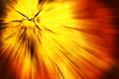 Explosion in orange and yellow Stock Images