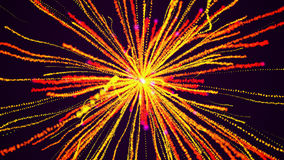 Explosion of particles. Festive fireworks Stock Photos