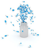 Explosion of pills Royalty Free Stock Photos