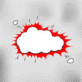 Explosion pop-art bubble template comic style Royalty Free Stock Photography