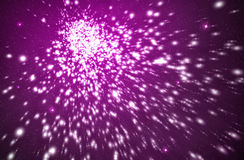 Explosion in purple background Royalty Free Stock Photos