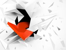 Explosion with red arrow Stock Images