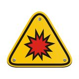 Explosion risk - triangle sign Stock Images