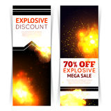 Explosion Sale Banners Royalty Free Stock Image