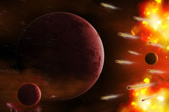 Explosion of space. Stock Photography