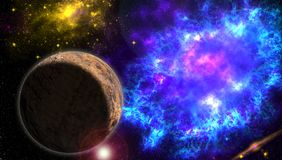 Explosion of space energy Royalty Free Stock Images