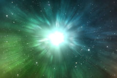 Explosion space scene Royalty Free Stock Images