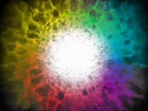 Explosion spectum color fire ball Stock Image
