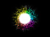 Explosion spectum color fire ball. Illustration abstract image of explosion spectrum color fire ball Stock Image