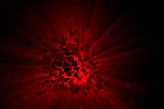 Explosion Sphere Background. A 3D illustration representing a 3d exploded sphere background with shattered pieces Stock Images