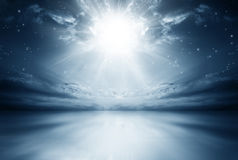 Explosion of a Star in the Sky Royalty Free Stock Photos