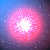 Explosion of a Star in Space. Conceptual Fantastic Illustration Stock Photography