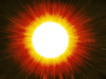 Explosion of the sun Stock Photos