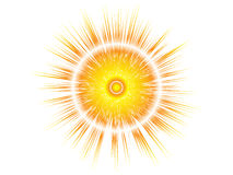 Explosion of sun Stock Photography