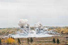 Explosion of a thermite bomb Royalty Free Stock Image