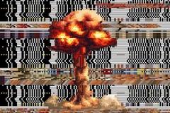 Explosion tirée ajuste des pixels fond cassé de vecteur chiffre Photographie stock libre de droits