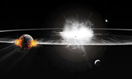 Explosion in Universe royalty free illustration