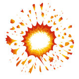 Explosion Vector-Illustration Royalty Free Stock Photos