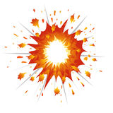 Explosion Vector-Illustration Stock Image