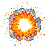 Explosion. Vector-Illustration Stock Photos