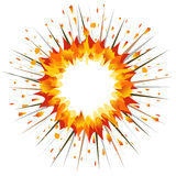 Explosion. Vector-Illustration Royalty Free Stock Photo