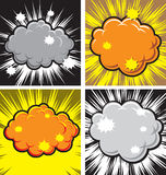 Explosion. Vector illustration of  boom explotion comic Royalty Free Stock Photos