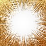 Explosion vector illustration. Sun ray or star burst element with sparkles. Gold Christmas element Golden glow glitter. Light rays. Explosion vector illustration Royalty Free Stock Photo