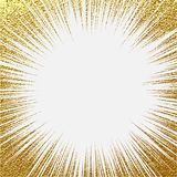 Explosion vector illustration. Sun ray or star burst element with sparkles. Gold Christmas element Golden glow glitter. Light rays. Explosion vector illustration Royalty Free Stock Photos