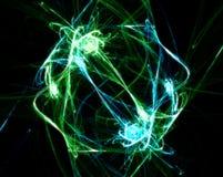Explosion verte Photo libre de droits