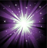Explosion of violet raylights Stock Image