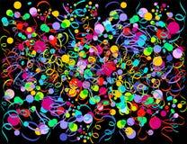 Explosion von Confetti Lizenzfreie Stockbilder