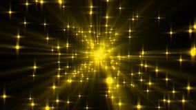 Explosion von Sternen mit Glanz und von Linien, 3d übertragen computererzeugten Hintergrund lizenzfreie abbildung