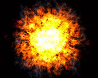 Explosion with white hot center Stock Photos