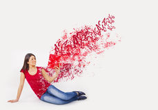 Explosion woman Stock Photos