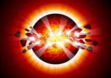 explosionavstånd Arkivbild
