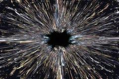 Explosionbakgrund för svart hål Royaltyfri Fotografi
