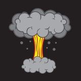 Explosionchampinjonmoln vektor illustrationer
