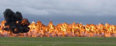 explosionen använda napalm mot Royaltyfri Foto