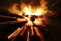 Explosionen av ett farligt bombarderar fotografering för bildbyråer