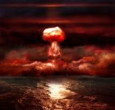 Explosionen av kärn- bombarderar