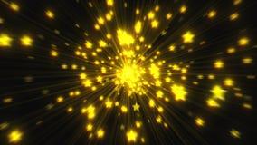 Explosionen av många stjärnor med glansen, 3d framför datoren frambragda bakgrunden vektor illustrationer